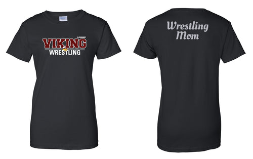 Vikings Wrestling Cotton Women's Glitter Crew Tee - Black - 5KounT2018