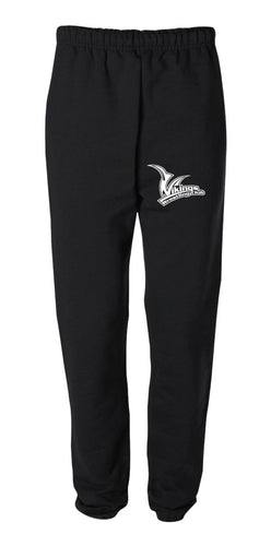 Vikings Wrestling Cotton Sweatpants - Black - 5KounT2018