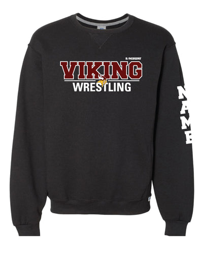 Vikings Wrestling Russell Athletic Cotton Crewneck Sweatshirt - Black - 5KounT2018