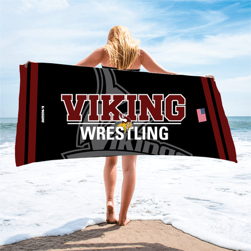 Vikings Wrestling Sublimated Beach Towel - 5KounT2018