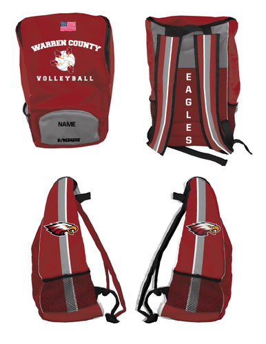 Warren County Volleyball Sublimated Backpack - 5KounT