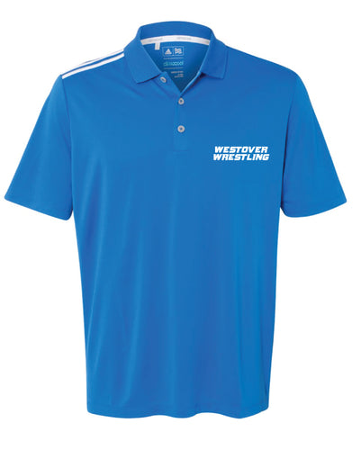 Westover Wrestling Men's Adidas Polo - Royal - 5KounT2018
