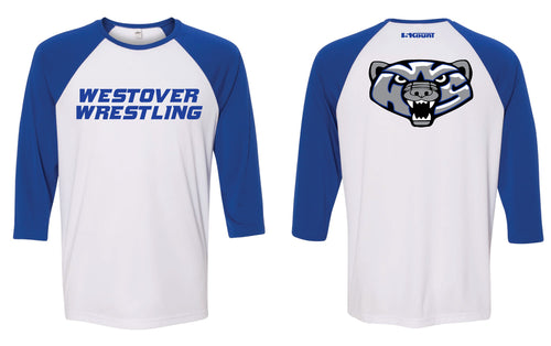 Westover Wrestling Baseball Shirt - Royal/White - 5KounT2018