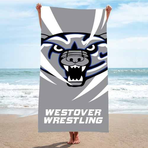 Westover Wrestling Sublimated Beach Towel - 5KounT2018