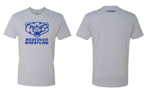Westover Wrestling Cotton Crew Tee - Heather Grey - 5KounT2018