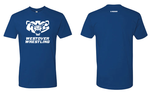 Westover Wrestling Cotton Crew Tee - Royal Blue - 5KounT2018