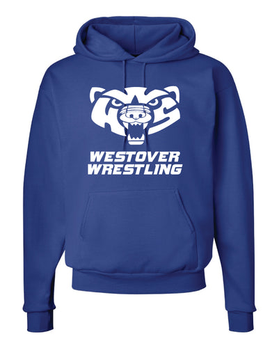 Westover Wrestling Cotton Hoodie - Royal Blue - 5KounT2018