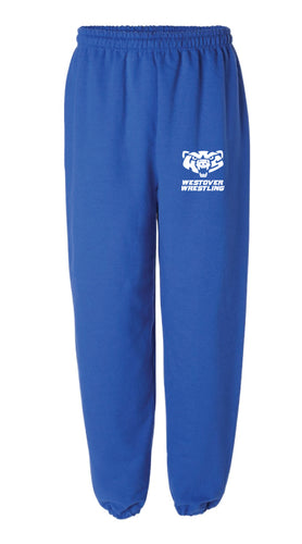 Westover Wrestling Cotton Sweatpants - Royal Blue - 5KounT2018