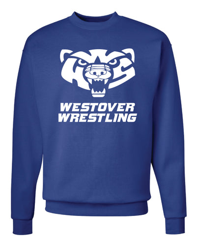 Westover Wrestling Crewneck Sweatshirt - Royal Blue - 5KounT2018