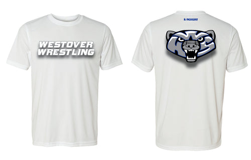 Westover Wrestling DryFit Performance Tee - White or Black - 5KounT2018
