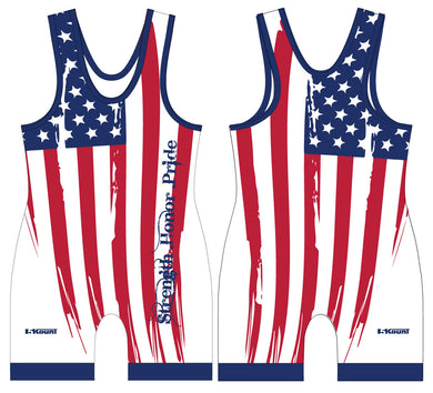 Strength Honor Pride Singlet - White