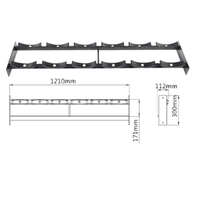 SRMCSR01 - Round Head Dumbbell Shelf - DirectHomeGym