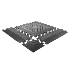 Interlocking Rubber Mat with Anti-Slip Surface - DirectHomeGym