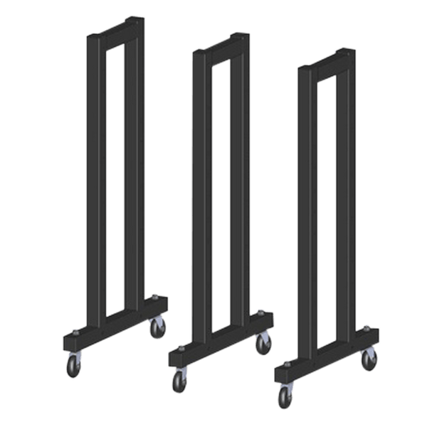 SRMCSR01 - 3 pieces 1.1M Rack with Wheels - DirectHomeGym