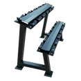 Dumbbells 2-Tier 5 Sets Storage Shelf Rack - DirectHomeGym