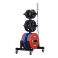 Vertical Olympic Plates and Bar Rack - DirectHomeGym