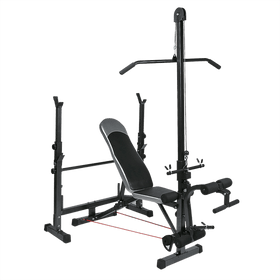 Weight Bench Rack with FID Bench Preacher Leg Curls Lats - DirectHomeGym