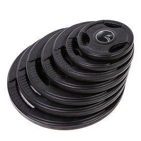 Tri-grip Rubber Coated Weight Plates (1.25KG to 20KG) - Olympic Size - DirectHomeGym