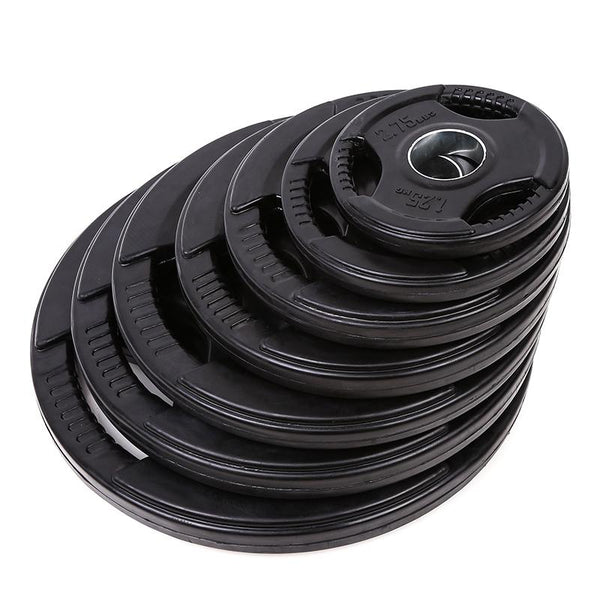 Tri-grip Rubber Coated Weight Plates Set (75KG, 115KG, 155KG) - DirectHomeGym