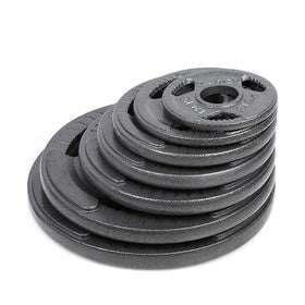 Tri-grip Cast Iron Weight Plates (1.25KG - 20KG) - Olympic Size - DirectHomeGym