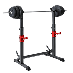 Squat and Bench Rack Width Adjustable
