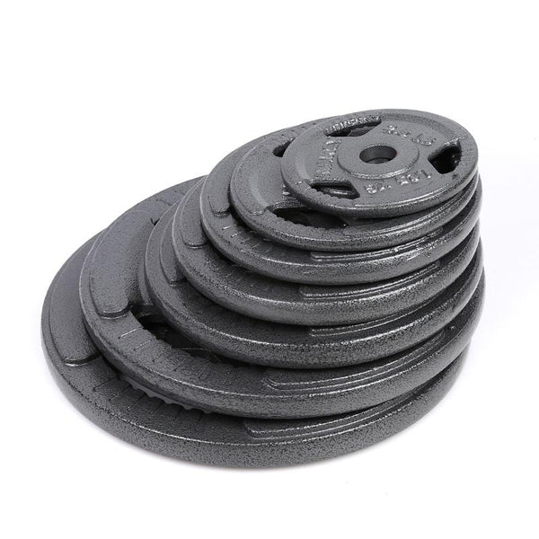 Tri-grip Cast Iron Weight Plates (1.25KG - 20KG) - Standard Size - DirectHomeGym