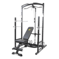 Power Rack with Plates Storage Dip Bars and Cable Machine - DirectHomeGym