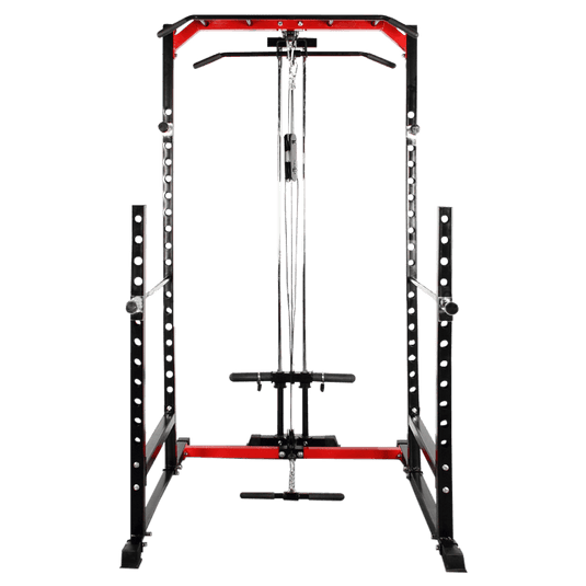 Power Squat Rack with Lats Pull-down and Row Machine