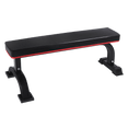 Flat Bench Black with 7cm Cushion - DirectHomeGym