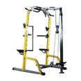 Half Rack with Lats Pull down and Row Machine - DirectHomeGym