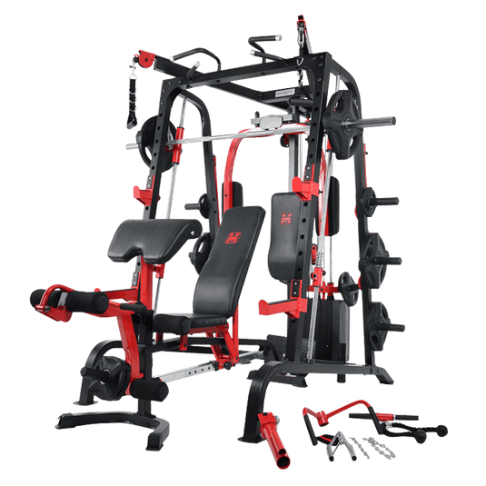 Massfit K9 FTS, Chest Press, Power Rack, Smith With Bench - DirectHomeGym