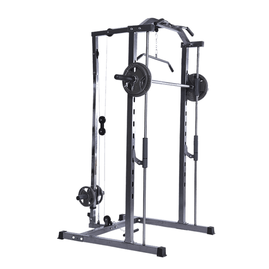 Smith Rack with Lats Pull-down and Row Machine