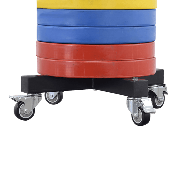 Mobile Vertical Olympic Plates Storage Rack - DirectHomeGym