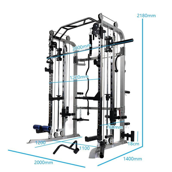 Massfit G4 Functional Trainer, Power Rack, Smith - DirectHomeGym