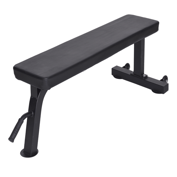 Flat Bench Black with Wheels - DirectHomeGym