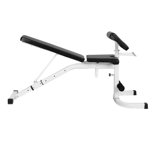 Adjustable Bench White with Preacher Attachment - DirectHomeGym