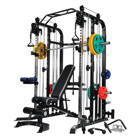 Massfit G5 Pro Functional Trainer, Power Rack, Smith - DirectHomeGym
