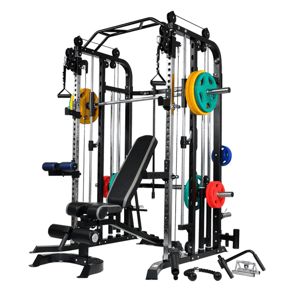 Massfit G5 Pro Functional Trainer, Power Rack, Smith