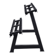 Dumbbells 2-Tier 10 Sets Storage Shelf Rack - DirectHomeGym