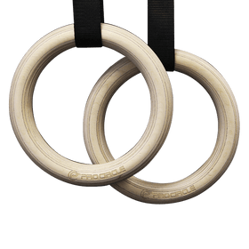 Gym Rings with Straps Layered Birch Wooden