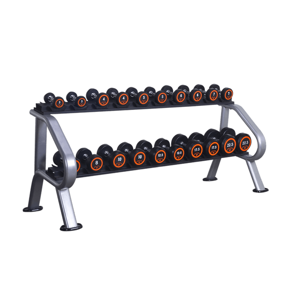 Dumbbells 6 or 10 Sets Storage Rack (2-Tier) - DirectHomeGym