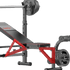 Weight Bench Rack with FID Bench and Leg Curl Attachment