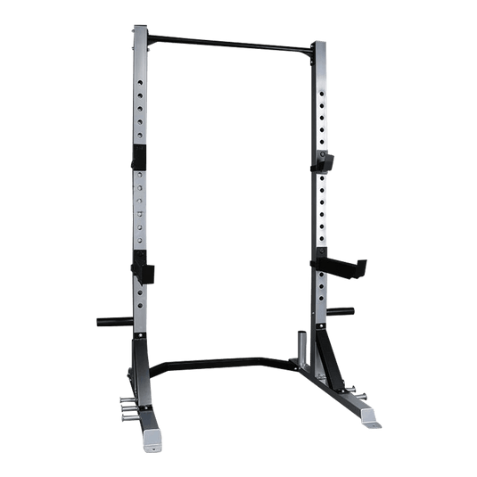 Half Rack with Bar and Plates Storage - DirectHomeGym