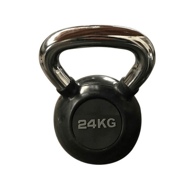 Pro-Rubberised Chrome Handle Kettlebells - DirectHomeGym