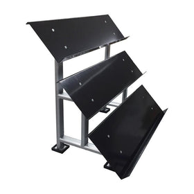 Commercial 3 Tier Hex Dumbbell Storage Shelf - DirectHomeGym