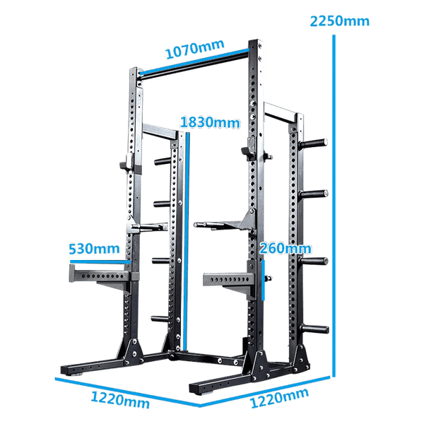 Infinity Series - Half Rack with Plates Storage