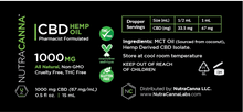 CBD Hemp Oil  - 1000 mg