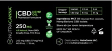 HEMP-DERIVED CBD OIL - 250 MG