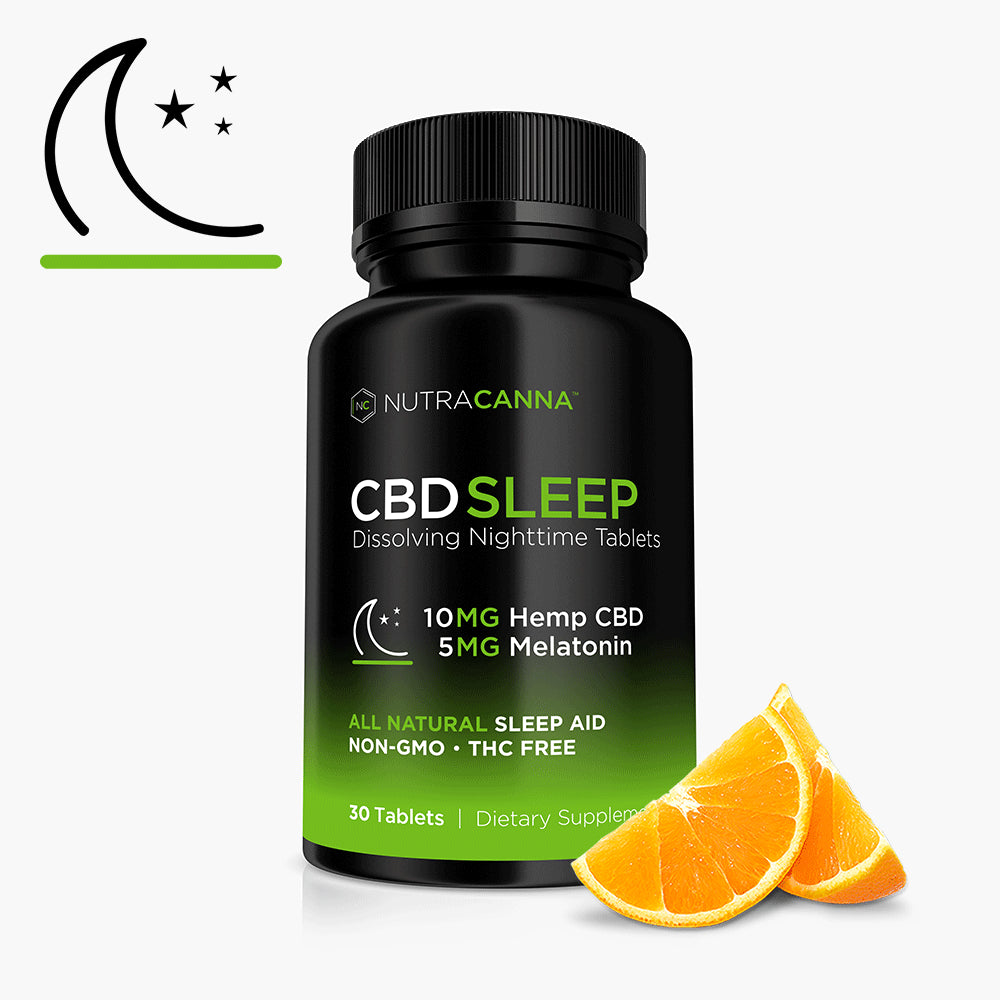 CBD + Melatonin Dissolvable Sleep Tablets - 10 MG