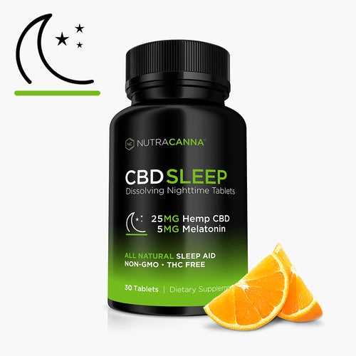 CBD + Melatonin Dissolvable Sleep Tablets - 25 MG